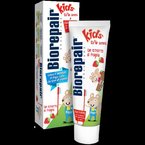 Детская зубная паста BioRepair Веселый мышонок Клубника 50 мл