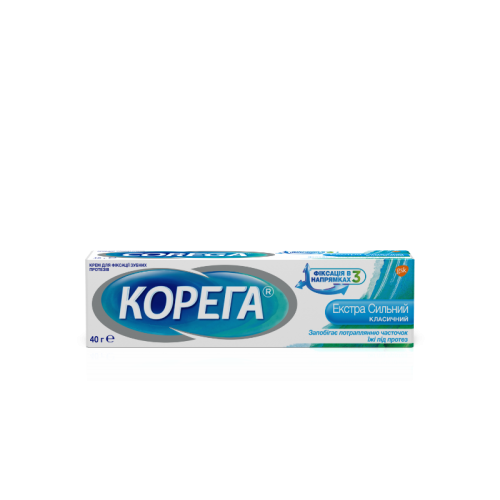 Крем для фиксации зубных протезов Корега Экстра сильный 40 мл