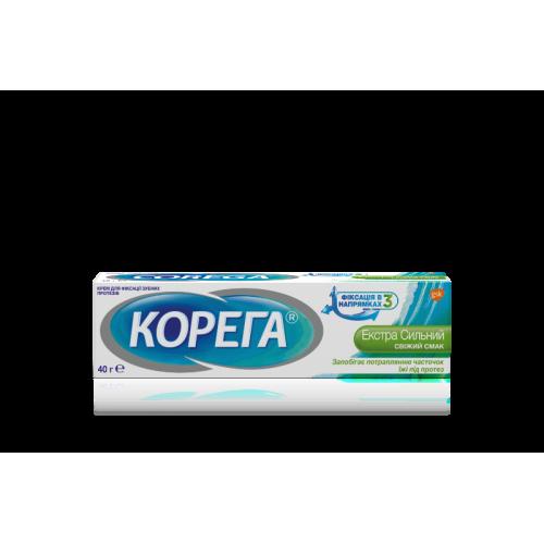 Крем для фиксации зубных протезов Корега Свежий вкус 40 г