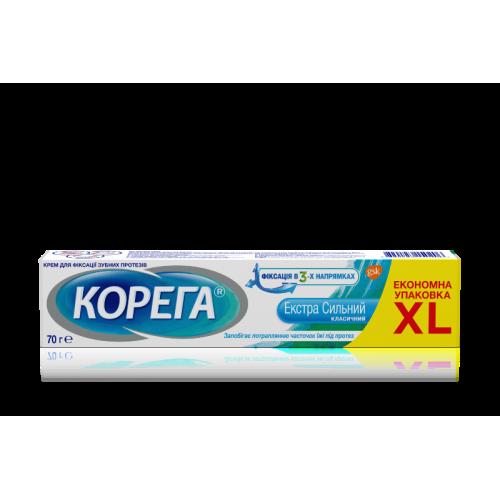 Крем для фиксации зубных протезов Корега Экстра сильный 70 г