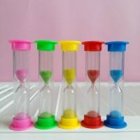 Песочные часы 1 минута 89х25 мм  в пластиковой тубе 5 шт