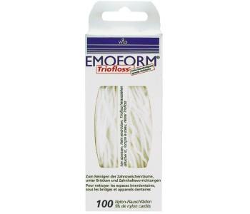 Зубная нить (флосс) EMOFORM Triofloss 100 шт