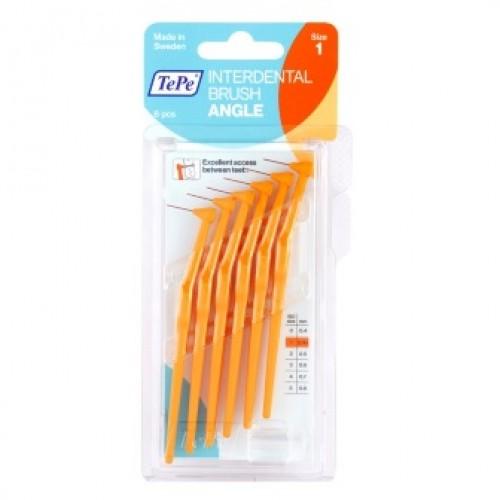 Межзубные ершики угловые TePe Angle 0.45 мм оранжевые 6 шт