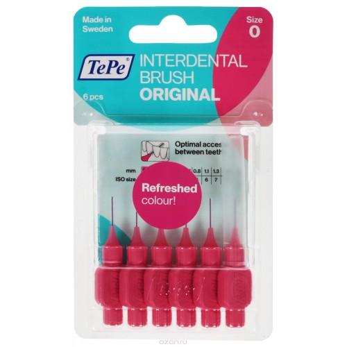 Межзубные ершики TePe Original 0.4 мм розовые 6 шт