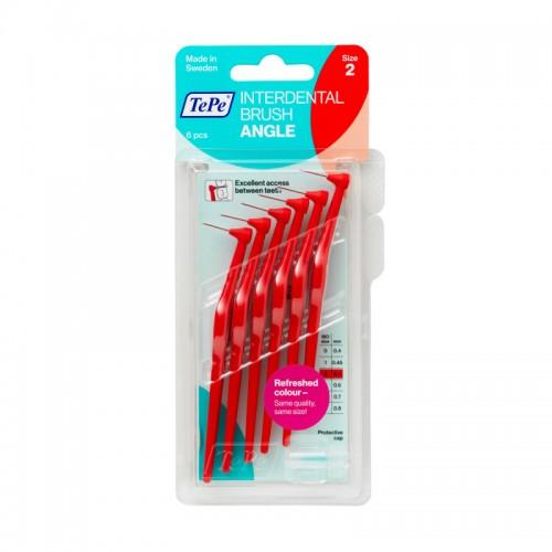 Межзубные ершики угловые TePe Angle 0.5 мм красные 6 шт