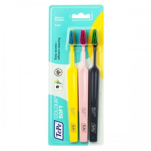 Зубная щетка TePe Colour Soft мягкая 3 шт
