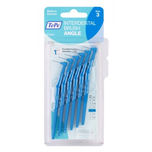 Межзубные ершики угловые TePe Angle 0.6 мм синие 6 шт