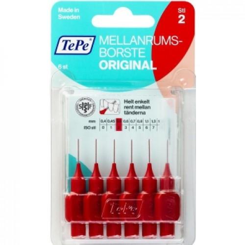 Межзубные ершики TePe Original 0.5 мм красные 6 шт