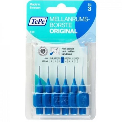 Межзубные ершики TePe Original 0.6 мм синие 6 шт
