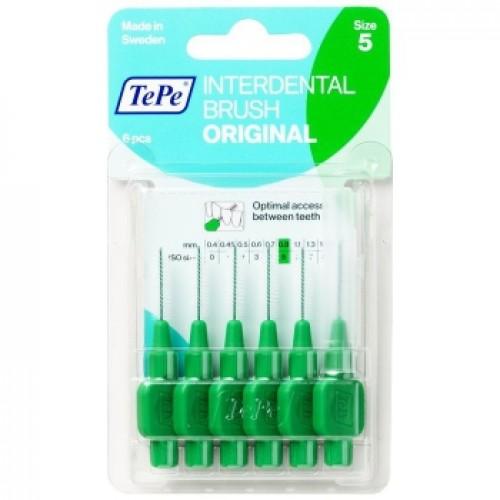 Межзубные ершики TePe Original 0.8 мм зеленые 6 шт