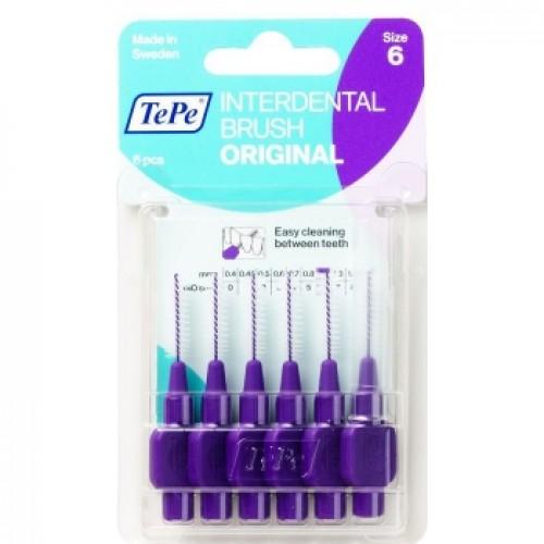 Межзубные ершики TePe Original 1.1 мм фиолетовые 6 шт