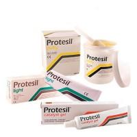 PROTESIL набор C-силиконовых материалов PROTESIL PUTTY, PROTESIL LIGHT и PROTESIL CATALYST 24 комплекта (900 мл + 140 мл + 60 мл)