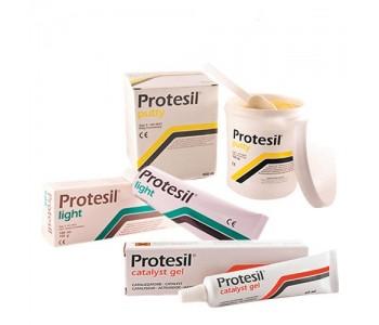 PROTESIL набор C-силиконовых материалов PROTESIL PUTTY, PROTESIL LIGHT и PROTESIL CATALYST 12 комплектов (900 мл + 140 мл + 60 мл)