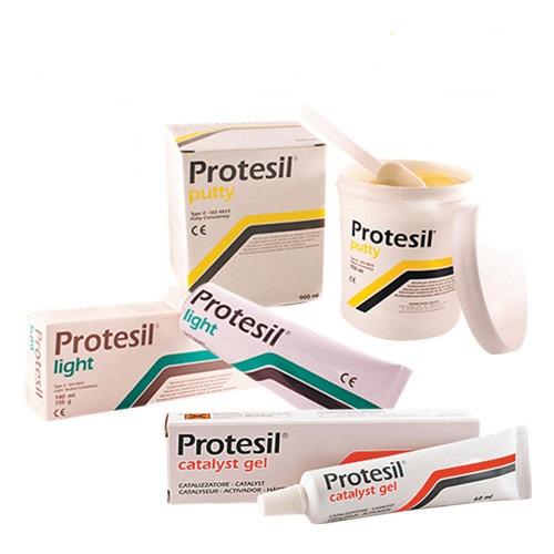 PROTESIL набор C-силиконовых материалов PROTESIL PUTTY, PROTESIL LIGHT и PROTESIL CATALYST комплект (900 мл + 140 мл + 60 мл)