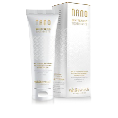 Зубная паста WhiteWash NANO отбеливающая с гидроксиапатитом 75 мл