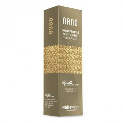 Зубная паста WhiteWash Nano отбеливающая с ионами золота 75мл