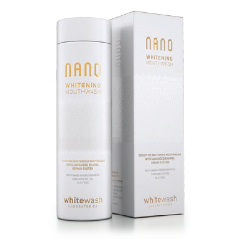 Ополаскиватель полости рта WhiteWash NANO отбеливающий с гидроксиапатитом 300 мл