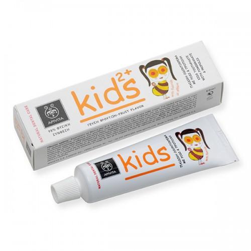 Детская зубная паста Apivita Kids с гранатом и прополисом от 2 лет 50 мл