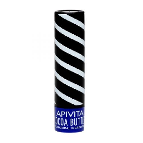 Бальзам для губ Apivita с пчелиным воском и масло какао 4,4 мл