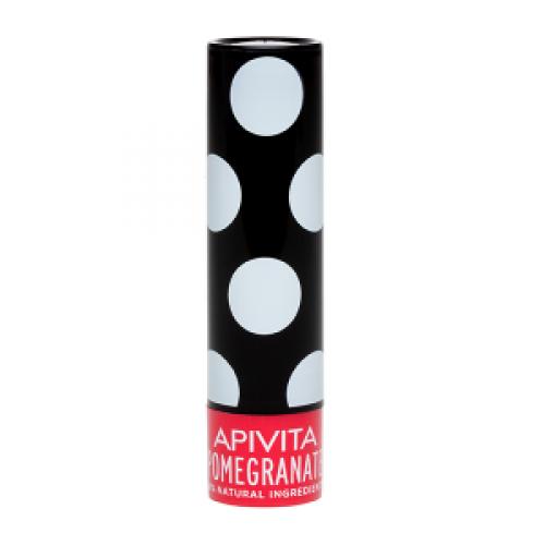 Бальзам для губ Apivita с пчелиным воском и гранатом 4,4 г