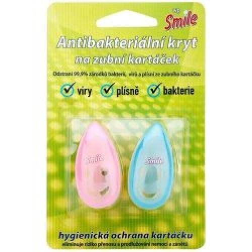 Футляр-держатель для зубных щеток с присоской антибактериальный 2 шт
