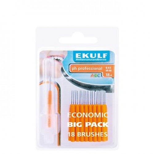 Межзубные ершики Ekulf ph professional 0.45 мм 18 шт