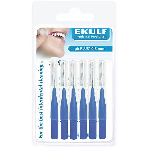 Межзубные ершики Ekulf ph plus 0,8 мм синие 6 шт