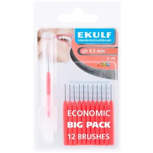 Межзубные ершики Ekulf ph 0,5 мм красные 12 шт