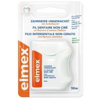 Зубная нить (флосс) Elmex Caries Protection Невощеная 50 м