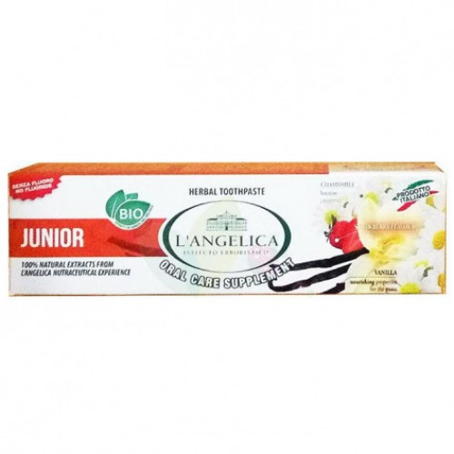 Детская зубная паста L'Angelica  Вкус природы от 0 до 13 лет 50 мл