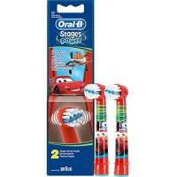 Сменные насадки для детской зубной щетки oral-B Тачки 2 шт