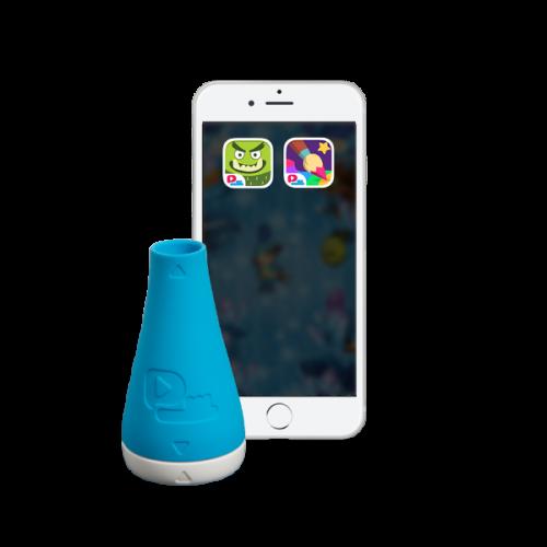 Игровая насадка для зубной щетки Playbrush голубая