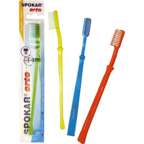 Зубная щетка Spokar Orto Ортодонтическая средняя жесткость